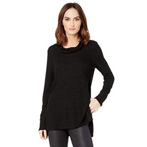 Ella Moss Cowl Neck Bell Sleeve Black Sweater (S)